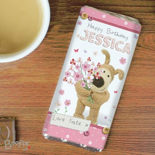 Boofle Flowers Chocolate Bar